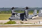 A U.S. Air Force CV-22 Osprey tiltrotor aircraft prepares to take off from Hurlburt Field, Fla., Oct. 3, 2013 131003-F-RS318-116.jpg