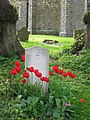 A War Grave with Tulips, St Michael's, Halton - geograph.org.uk - 1294123.jpg