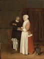 A Woman Washing her Hands (Quiringh Gerritsz. van Brekelenkam) - Nationalmuseum - 17361.tif