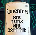 A bottle label with runes - Flaschenetikett mit Runen.jpg