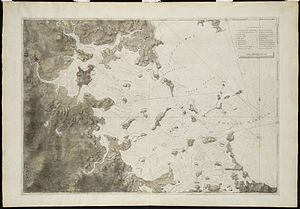 Atlantic Neptune - A survey of Boston Harbor, first published in 1775