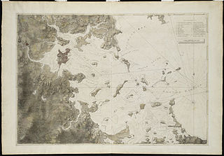 Atlantic Neptune atlas of North America, published in the eighteenth century