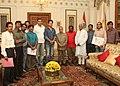 A delegation of Cartoonists based in Delhi led by Shri Sudheer Nath, (Programme Co-coordinator) of the Kerala Cartoon Academy called on the President, Shri Pranab Mukherjee, in New Delhi on September 01, 2012.jpg