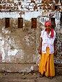 A female sadhu in Jamalpur, Gujarat.jpg