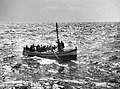 A fishing boat crowded with Italian staff officers and soldiers intercepted by HMS LEMERTON off Cape Bon in Tunisia, May 1943. A16735.jpg