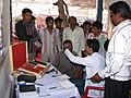 A free eye check up camp organised at the Bharat Nirman Jan Soochna Abhiyaan, at Manawar, Madhya Pradesh on February 27, 2014.jpg