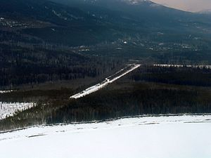 Ingenika Airport - Image: Abandoned airstrip SE Ingenika Airport, BC (120824637)
