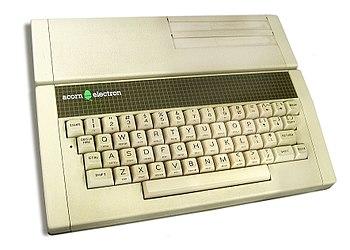 An Acorn Electron home computer.