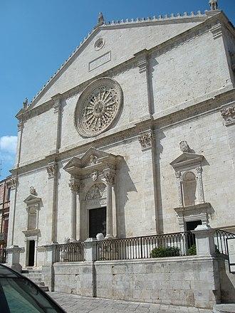 Acquaviva delle Fonti - The facade of the cathedral