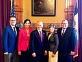 Adam Gregg, Kim Reynolds, Scott Pruitt, Joni Ernst, and Bill Northey on EPA Iowa state action tour.jpg