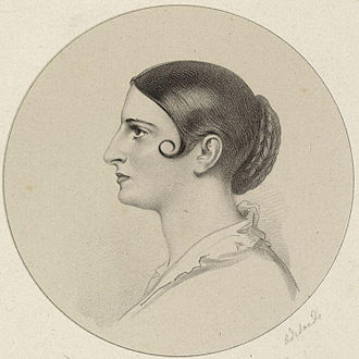 Adelaide Kemble - 1841 lithograph of Adelaide Kemble by Richard James Lane