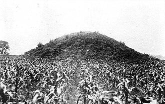 Adena Mound - Pre-1914 view of the mound