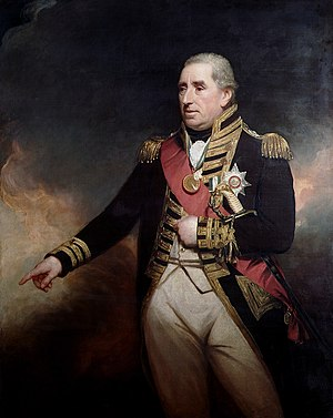 Battle of San Domingo - Vice-Admiral Sir John Thomas Duckworth Henry William Beechey, 1809, National Maritime Museum
