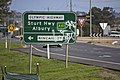 Advance directional (AD) sign with an alphanumeric route plated fitted on Olympic Highway in Wagga Wagga (1).jpg