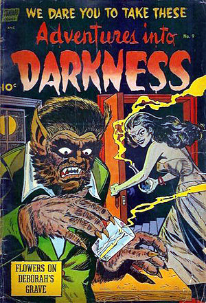 Werewolf fiction - Adventures Into Darkness, a Golden Age comics series that ran for 10 issues from August 1952-1954