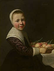 Portrait of a Girl with Peaches