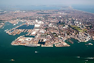 Royal Navy Dockyard - Portsmouth Royal Dockyard, founded 1496, still in service as a Naval Base.