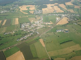 Dippach - Image: Aerial view of Bettange sur Mess and Dippach Gare, Luxembourg