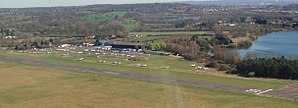 Elstree Airfield - Elstree Airfield seen from the northwest.