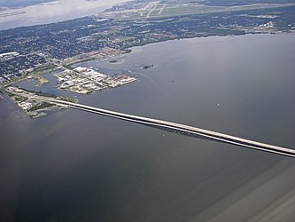 Aerial view of South Tampa, MacDill AFB and Gandy bridge 2.jpg