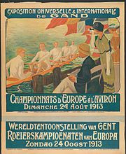 Description de l'image Affiche Championnat d'Europe aviron 1913.jpg.