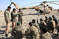 Afghan National Army soldiers with the 215th Corps teach a helicopter training course as part of the 10-week Noncommissioned Officer Battle Course at Camp Shorabak in Helmand province, Afghanistan, Feb. 19 140219-M-PF875-007.jpg