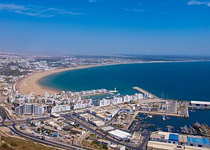 English: Areal view of Agadir