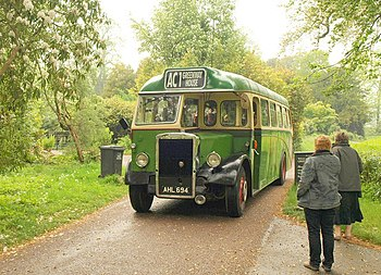 English: The Agatha Christie Bus Tour bus, at ...