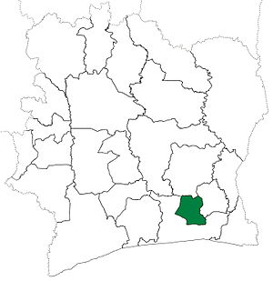 Agboville Department - Agboville Department upon its creation in 1969. Although it has kept these boundaries, other departments began to be divided in 1974.