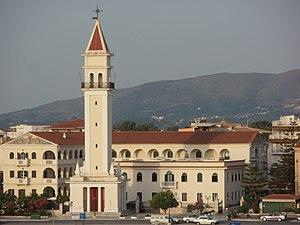 Belltower of Agios Dionysios Church in Zakynth...