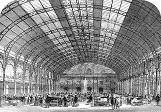 Royal Agricultural Hall - A cattle show at the Royal Agricultural Hall in 1861.