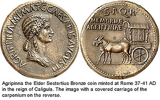 Agrippina the Elder - Roman Bronze Coin