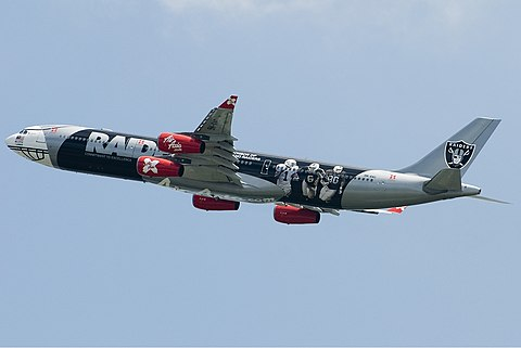 Air AsiaX Airbus A340-313X Oakland Raiders TTT.jpg