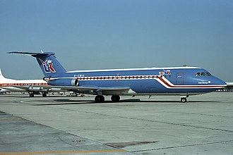 AirUK - An Air UK One-Eleven in the original all-blue scheme in 1981.