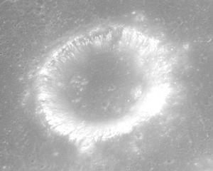 Al-Bakri (crater) - Oblique view from Apollo 15