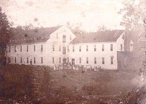 English: Photograph of the Alamance Cotton Mil...