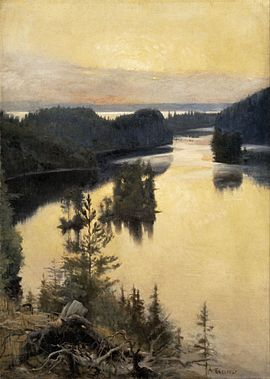 Albert Edelfelt - Kaukola Ridge at Sunset - Google Art Project.jpg