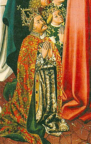 Elizabeth of Luxembourg - King Albert and Queen Elizabeth as depicted in Albrechtsaltar in Klosterneuburg Monastery