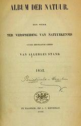 Album der Natuur, 1852 and 1853