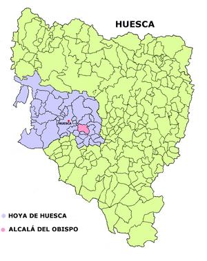 Alcalá del Obispo - Image: Alcala del Obispo mapa