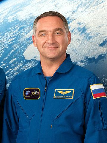 """Cosmonaut Aleksandr Skvortsov Jr., NASA photo (7 July 2009)<br /><i>Source:</i> <a href=""""https://commons.wikimedia.org/wiki/File:Alexander_Skvortsov_cropped.jpg"""" rel=""""external"""">Wikipedia</a> 360px-Alexander_Skvortsov_cropped.jpg"""