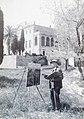 Alexandre de Cabanyes pintant a la Masia Cabanyes de Vilanova..JPG