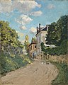 Alfred Sisley - Blick in die Rue de Montbuisson in Louveciennes - 2575 - Staatliche Kunsthalle Karlsruhe.jpg