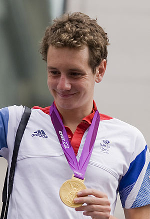 Alistair Brownlee - Brownlee at Our Greatest Team Parade in 2012