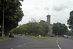 Allerton, Liverpool - Image: All Souls Church, Mather Avenue, Allerton (geograph 3147376)