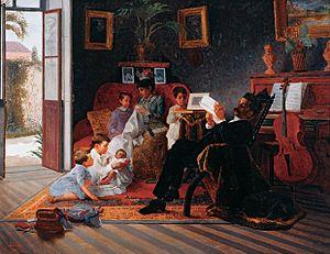 Pinacoteca do Estado de São Paulo - Image: Almeida Júnior Cena de Família de Adolfo Augusto Pinto, 1891