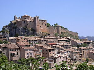 View of Alquézar with its castle