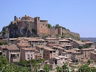 Alquézar - View of Alquézar with the Collegiate church on top