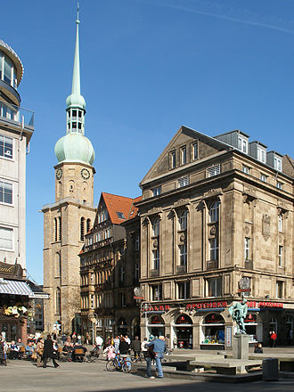 Ruhr - Gamete of Dortmund, old market square with St. Reinold's Church