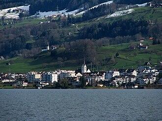 Altendorf, Schwyz - Image: Altendorf Obersee Hurden IMG 5227